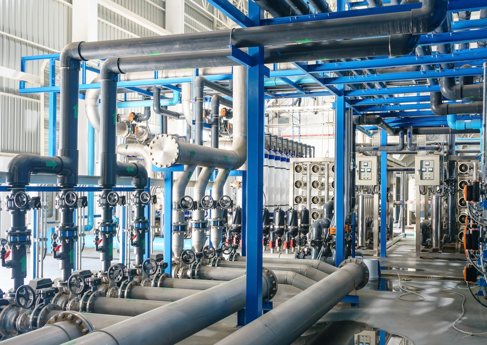 photo of many pipes in an industrial complex