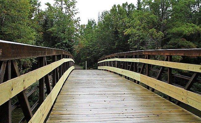 photo of a wooden bridge