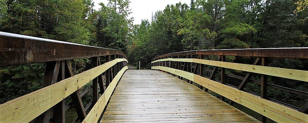 photo of a wooden bridge