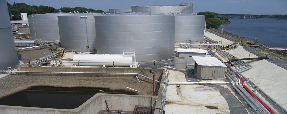 Petroleum, Hazardous Materials, Hazardous Waste photo of oil terminals next to a river