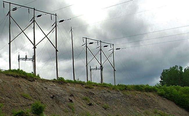 photo of large power lines