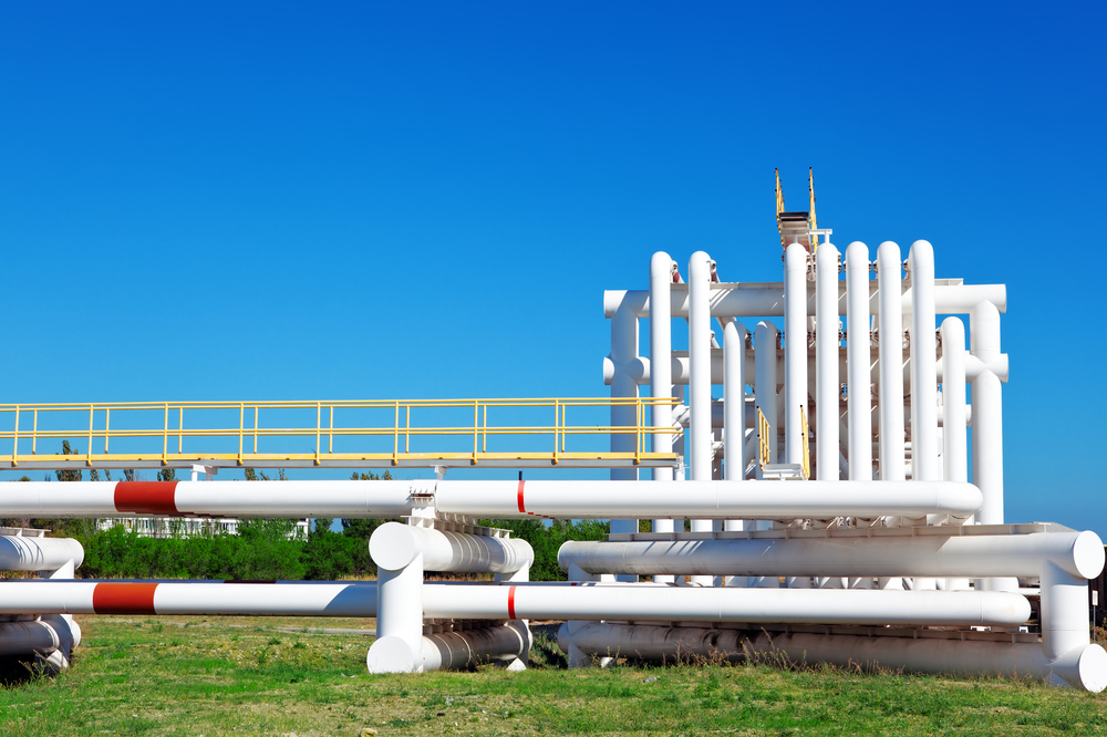 photo of water pipes at an industrial plant