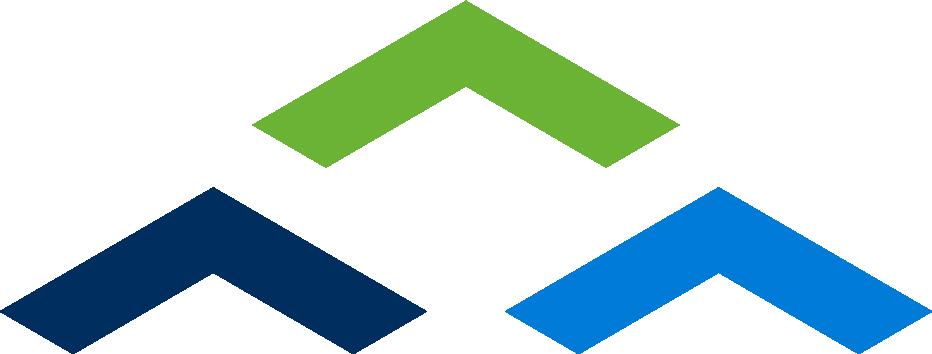 graphic of haley ward three colored arrows logo