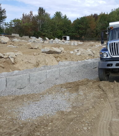 photo of dump truck at a construction site