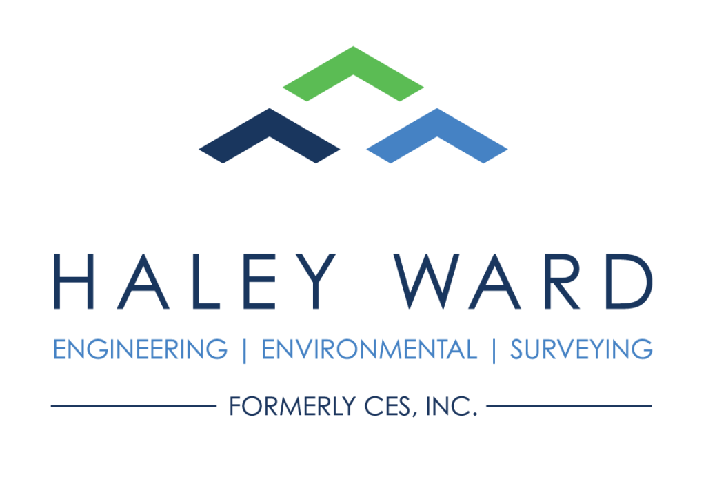 haley ward engineering environmental surveying formerly ces inc logo graphic